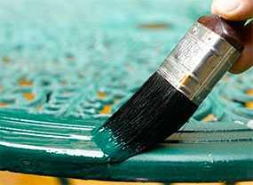 Огнезащитное покрытие металлических поверхностей кистью/валиком