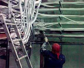 Огнезащитное покрытие металлических кабелей кистью/валиком