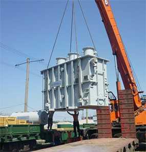 Погрузка/выгрузка тяжеловесных грузов (до 30 тонн) из открытого подвижного состава на автомобиль