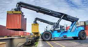 Погрузка/выгрузка тяжеловесных грузов (до 30 тонн) из автомобиля на открытый подвижной состав
