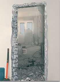 Демонтаж двери (дверного блока)