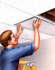Демонтаж подвесного потолка