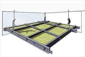 Монтаж (устройство) подвесного потолка типа Армстронг