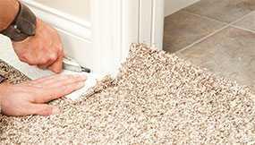 Укладка коврового рулонного и коврового плиточного покрытия