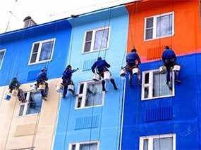 Покраска (окраска) фасадов зданий и сооружений