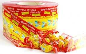 Изготовление гибкой рулонной упаковки для конфет