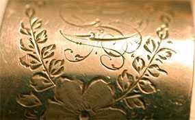 Механическая (фрезерная) гравировка на металлической поверхности