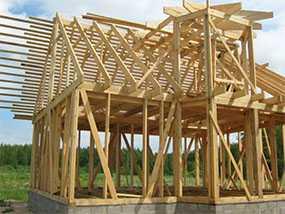 Монтаж деревянных каркасных конструкций