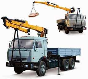 Погрузочно-разгрузочные работы автомобильным краном грузоподъемностью до 12,5 тонн