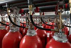 Заправка баллонов потребителей техническими газами