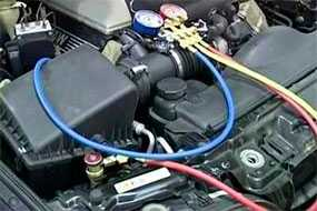 Заправка фреоном кондиционера легкового автомобиля