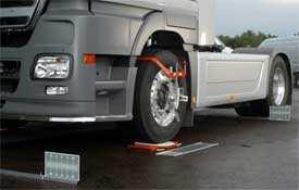 Регулировка (балансировка) схождения колес грузового автотранспорта