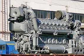 Замена дизеля тепловоза 10Д100 на 1А-9ДГ