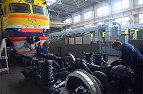 Производство обыкновенного освидетельствования колесных пар тепловозов ТЭП60