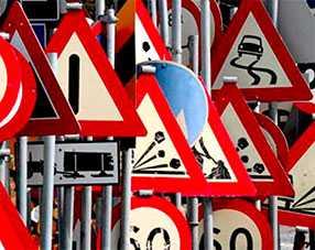 Изготовление металлической опоры для дорожных знаков