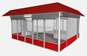 Изготовление металлоконструкций для торговых павильонов