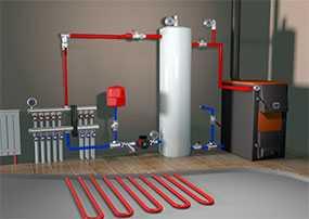 Установка (монтаж) систем отопления внутри помещений