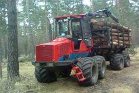 Трелевка древесины форвардером Valmet 860