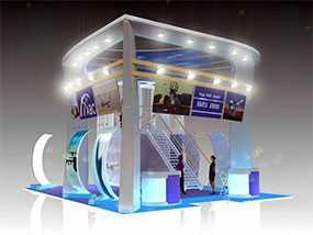Монтаж светового выставочного оборудования