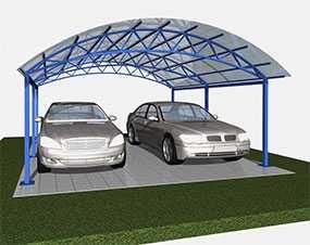 Изготовление навесов для автомобиля из поликарбоната