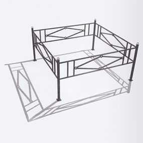 Изготовление ритуальных оград для могил из нержавеющей стали