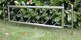 Изготовление декоративных оград для клумб из нержавеющей стали