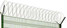 Изготовление и установка спиральных барьеров безопасности «Егоза»