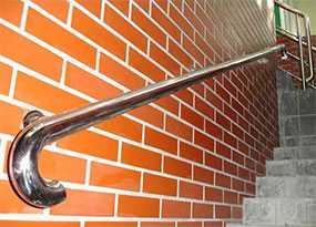 Изготовление пристенных поручней для лестниц из нержавеющей стали