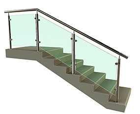 Изготовление ограждений для лестниц с заполнением из монолитного поликарбоната