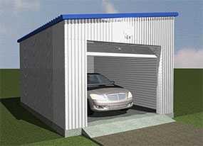 Изготовление металлических каркасных гаражей из сэндвич-панелей (утепленных)
