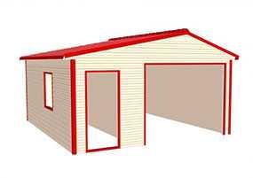 Изготовление металлических каркасных гаражей из профлиста (неутепленных)