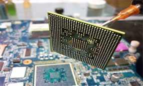 Замена BGA-чипа («видеочип», «северный мост», «южный мост»)