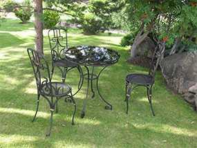 Изготовление кованых стульев