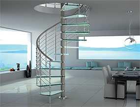 Изготовление винтовых лестниц из нержавеющей стали