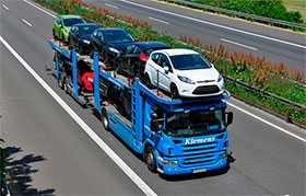 Услуги по перевозке автомобилей автовозом