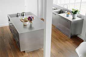 Изготовление кухонной мебели из нержавеющей стали