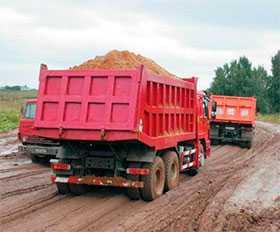 Доставка грузов самосвалом