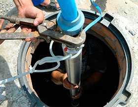 Монтаж и демонтаж погружных насосов с водоподъемными трубами