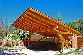 Строительство деревянных навесов