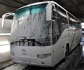 Механизированная автомойка автобус большого класса (длина от 7,5 до 12,0 м)