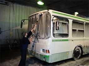 Ручная мойка автобус большого класса (длина от 7,5 до 12,0 м)