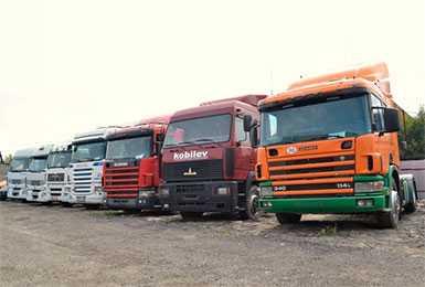 Продажа грузовых авто и прицепов