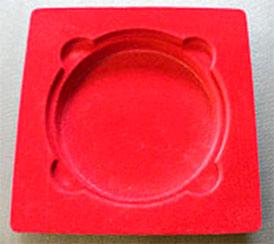 Производство флокированных ложемент для упаковки