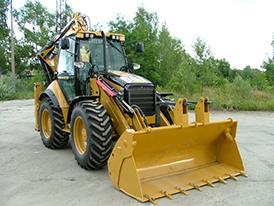 Аренда экскаватора-погрузчика Caterpillar 444F