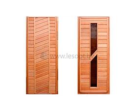 Реализуем двери деревянные для бани и сауны