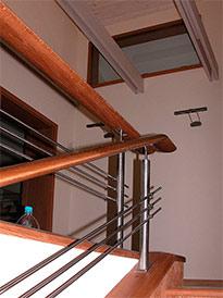 Реализуем поручень деревянный для лестниц